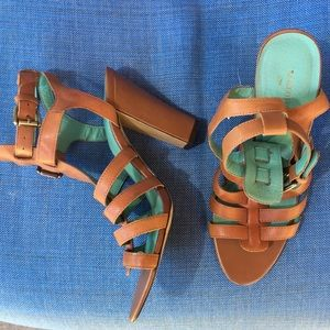 Franco Fortino Brown Leather Gladiator Sandals